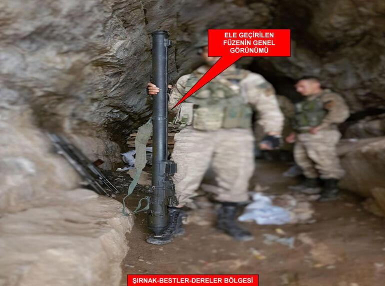 500 metre derinliğindeki mağarada hava savunma füzesi ele geçirildi