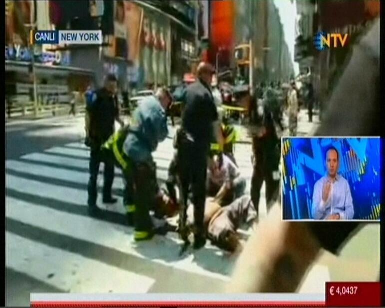 New Yorkun ünlü meydanında panik