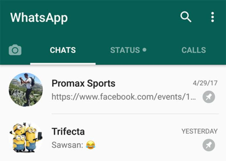 whatsapp sohbet ozelligi