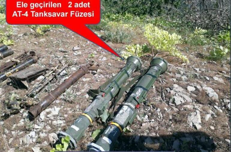 Şok silahlar Asker toprak altında buldu...