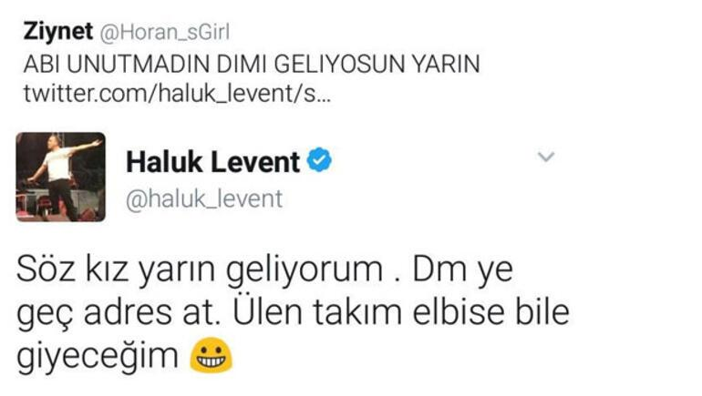 Haluk Leventten takipçisine jest