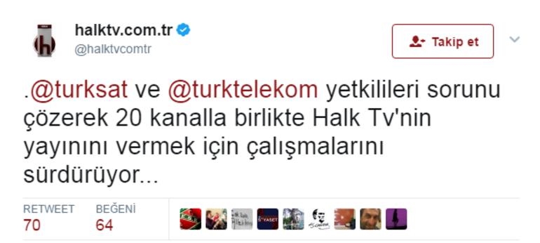 Halk TV ile Ulusal Kanal dahil 20 kanalın yayını kesildi