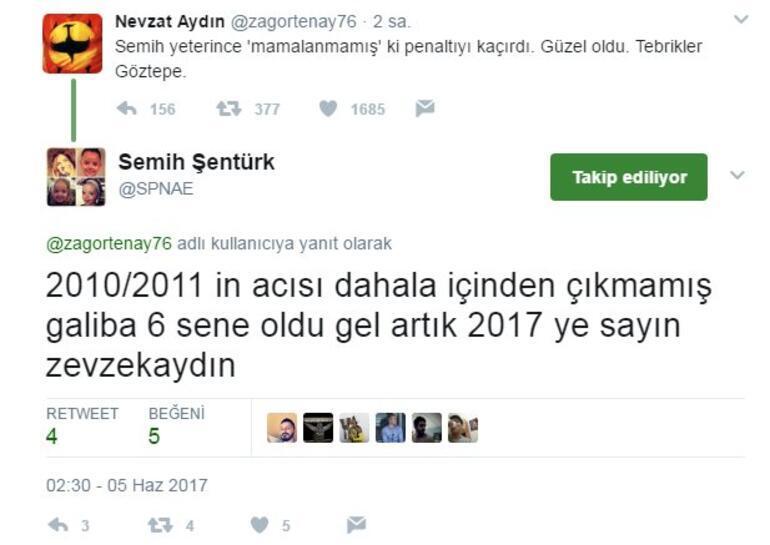 Semih Şentürk-Nevzat Aydın ile Twitterda kapıştı