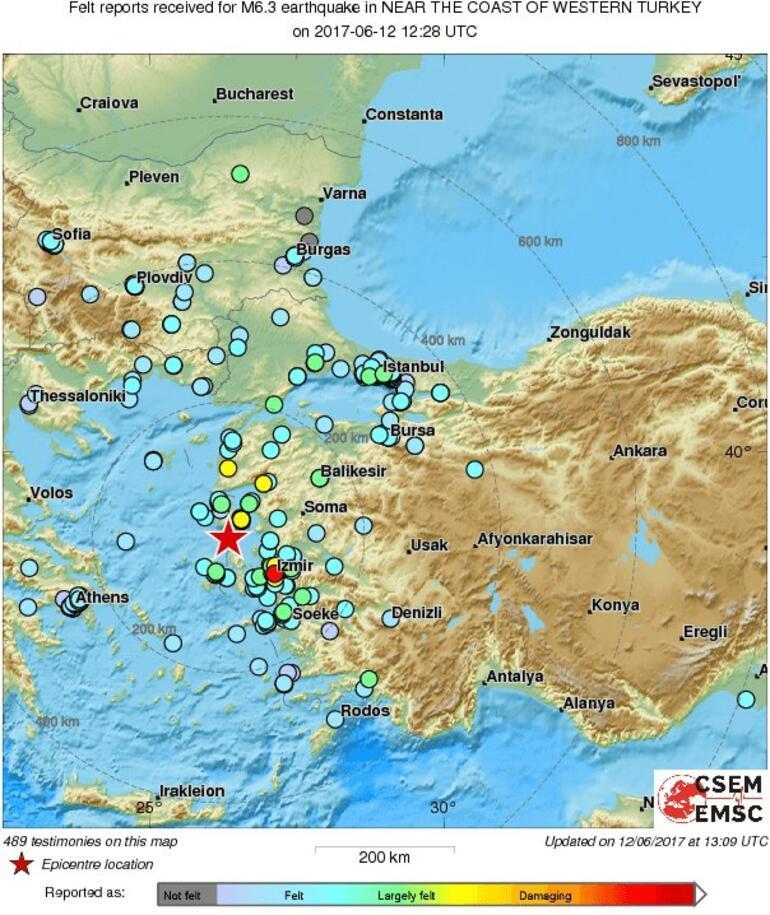 Deprem en çok Midilliyi vurdu