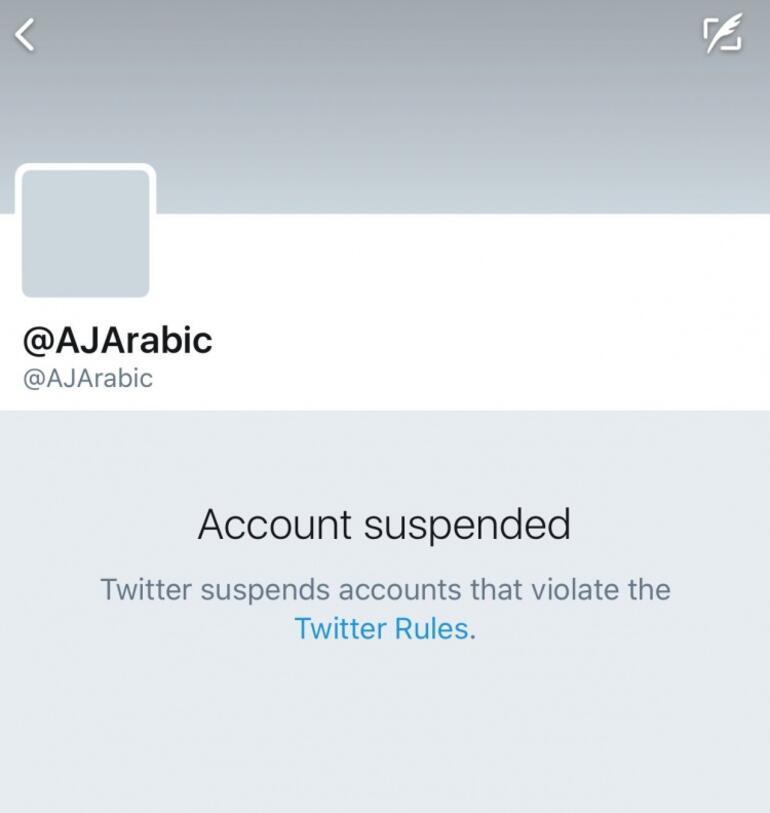 Twitterdan Katar hamlesi Arapça hesabı askıya aldılar