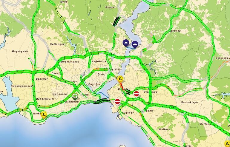 Son dakika... İstanbulda trafik yüzde 4e düştü... Bir yer hariç