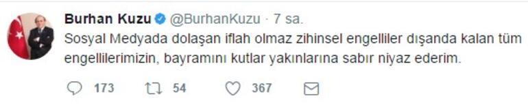 AK Partili Burhan Kuzu'nun tweet'i sosyal medyayı salladı