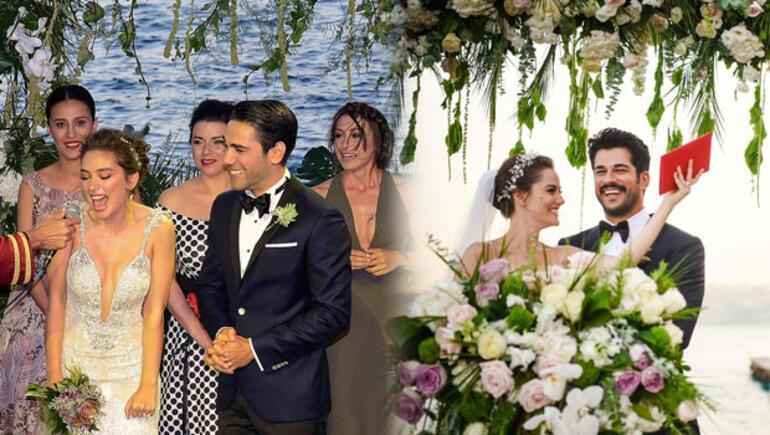 Fahriye Evcen ile Burak Özçivit evlendi... Bu fotoğraflar benzerlik tartışması yarattı