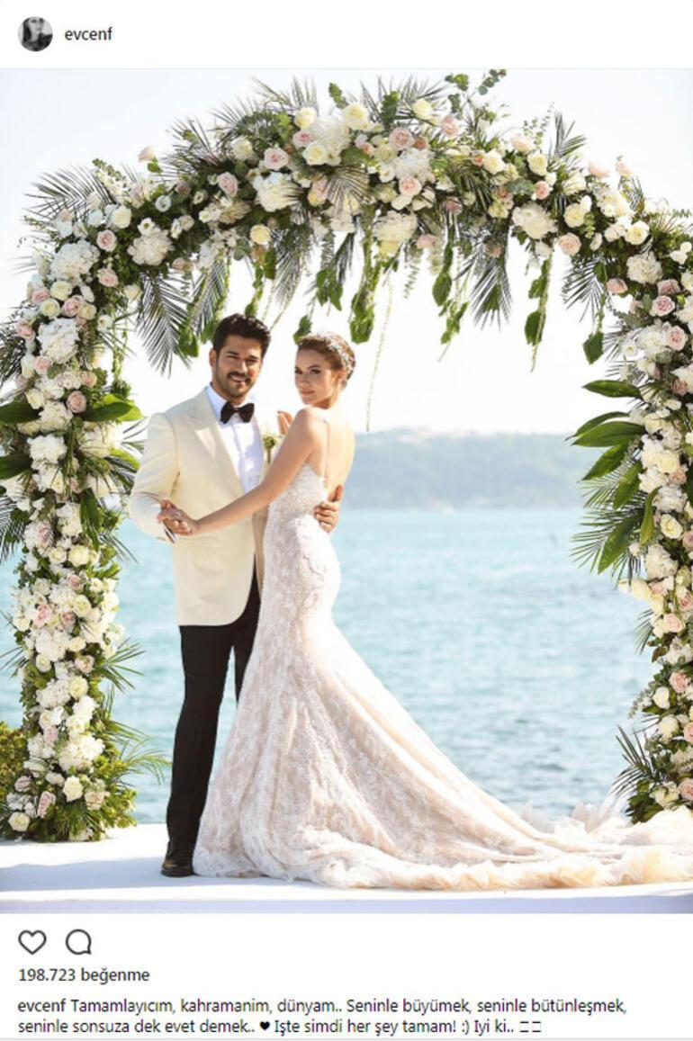 Fahriye ve Buraktan nikah sonrası ilk paylaşım