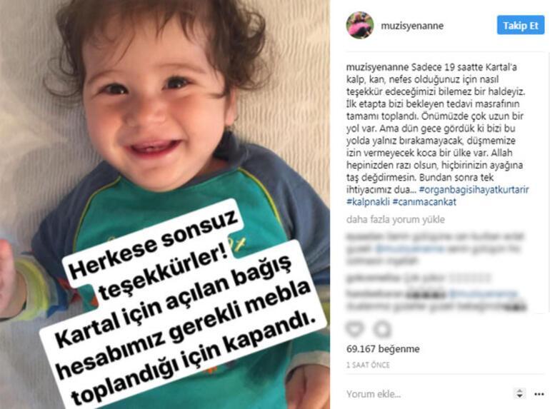 Türkiye Kartal bebek için seferber oldu, para toplandı