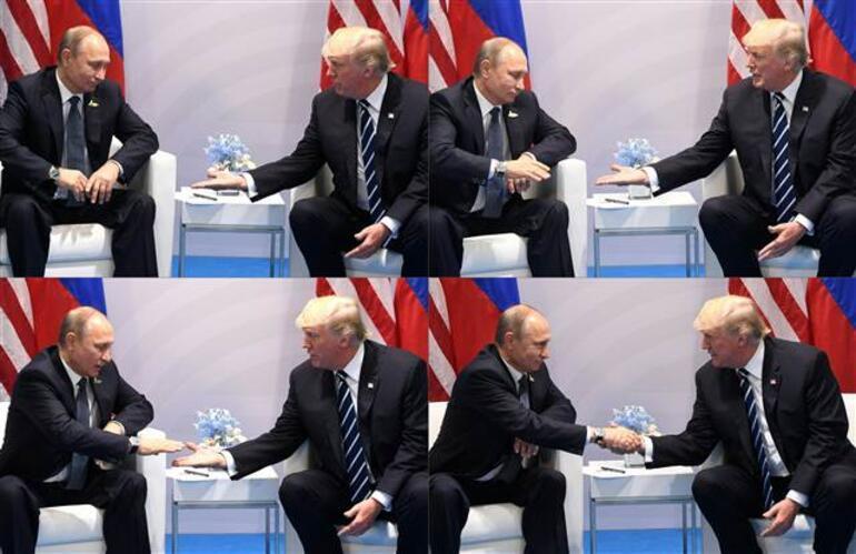 Trump ve Putin ilk kez yüz yüze... İlginç sözler