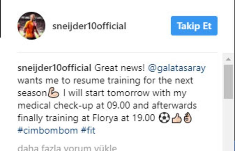 Sneijder müjdeyi verdi Kalıyor...