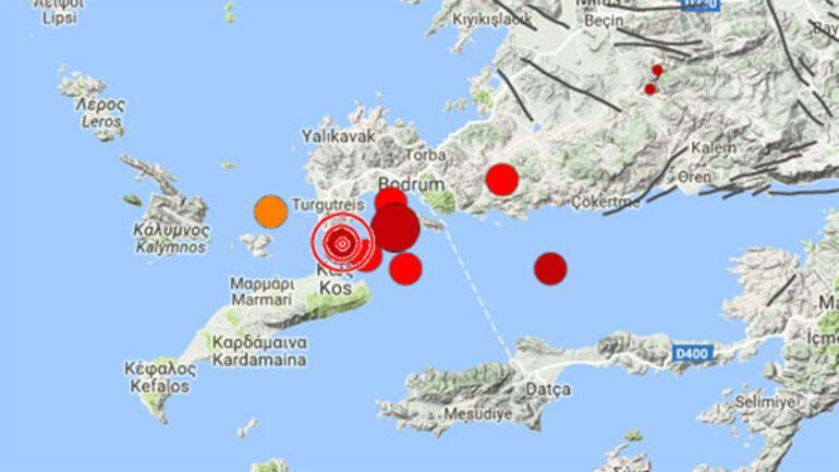 Ege'de 6,3'lük deprem…