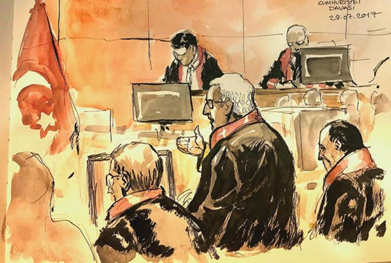2017 Türkiye'sindeki bir mahkeme salonundan, geleceğe bırakılan resimler...