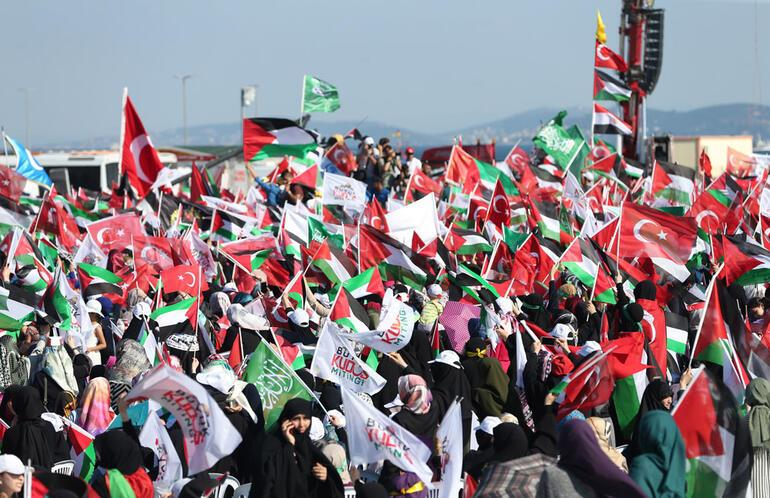Saadet Partisinin Büyük Kudüs Mitingine CHP'den destek