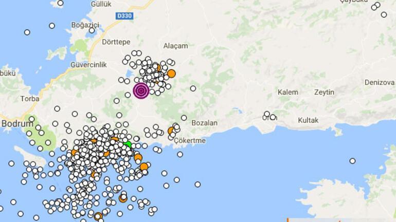 Muğla yine sallandı... Bodrum ve Milasta hissedildi... 4.8lik deprem...