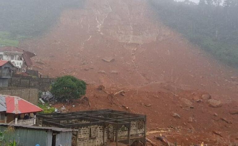 Sierra Leonede toprak kayması... Yüzlerce ölü var