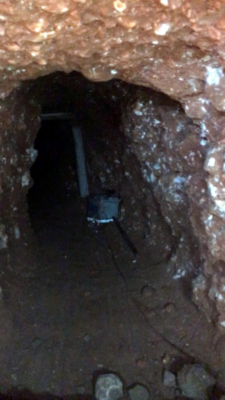 Suriye sınırında PKK tüneli bulundu