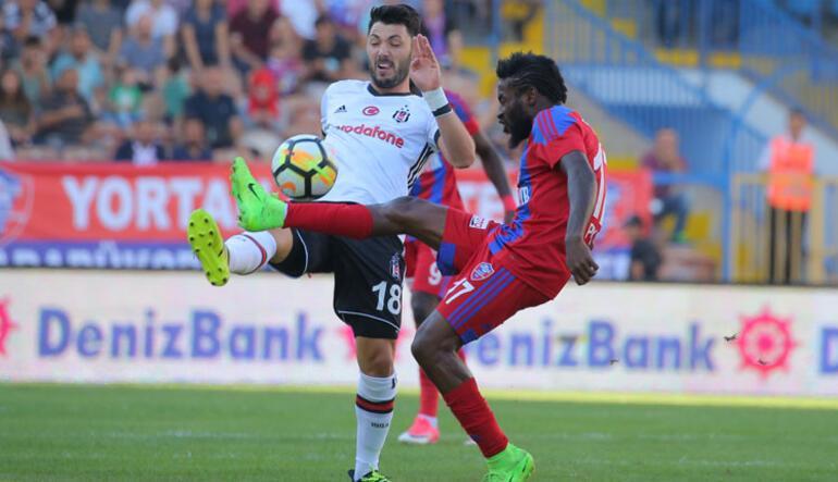 <a href='/besiktas/'>Beşiktaş</a> zoru seviyor Maçta 1 gol, 1 kırmızı kart, 1 de kaçan penaltı...