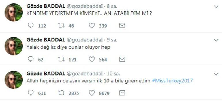 Miss Turkey finalisti Gözde Baddal isyan etti