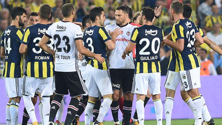 4 kırmızı kartın çıktığı derbiyi Fenerbahçe kazandı