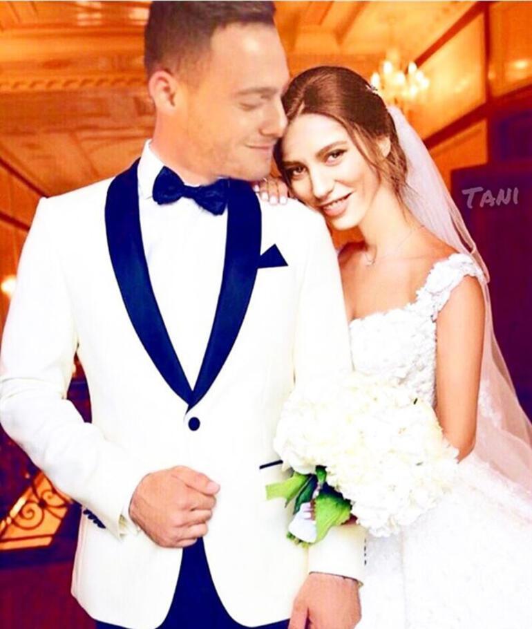Serenay Sarıkaya ile Kerem Bürsini evlendirdiler