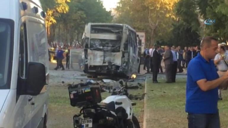 Son dakika haberi: Mersinde polis servisine bombalı saldırı