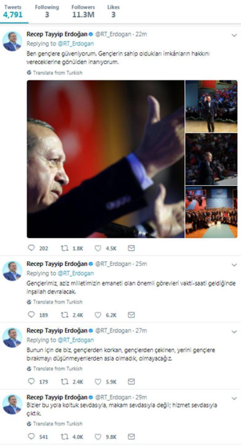 Gökçekin istifasını duyurduğu dakikalarda Erdoğandan dikkat çeken mesajlar
