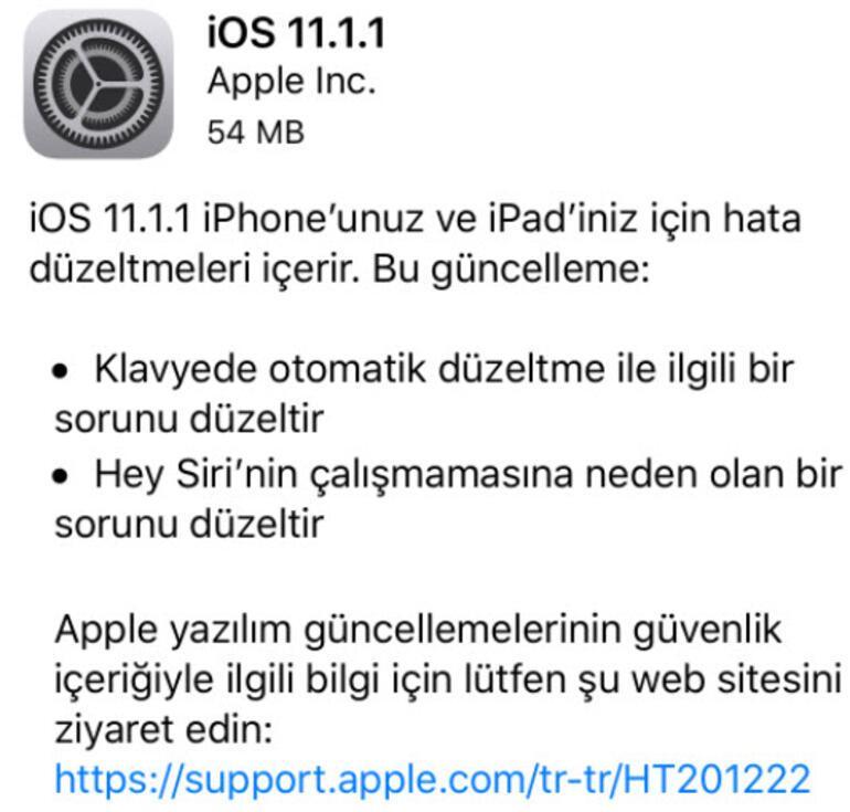 iOS 11.1.1 güncellemesi yayında Peki ne değişecek