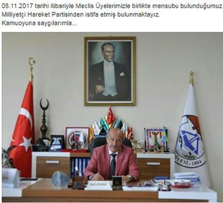 MHPli belediye başkanı ve meclis üyeleri partilerinden istifa etti