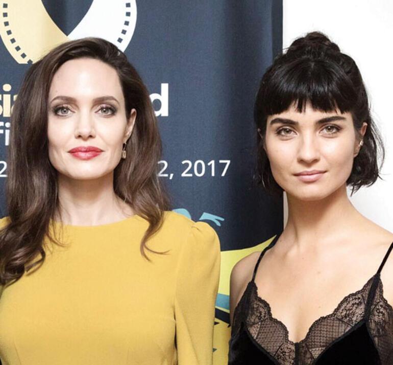 Angelina Jolie ile Tuba Büyüküstünün Los Angeles buluşması