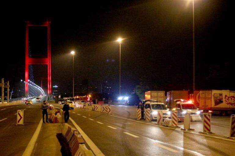 Köprüde gece denetimi... Ceza yağdı