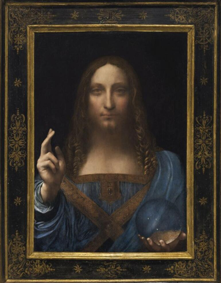 Leonardo da Vincinin Dünyanın Kurtarıcısı tablosu 450 milyon dolarlık rekor fiyata satıldı