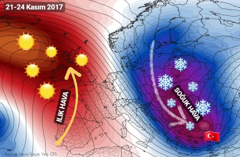 İstanbulda ilk kar ne zaman yağacak Meteoroloji Genel Müdürlüğünden soğuk hava uyarısı
