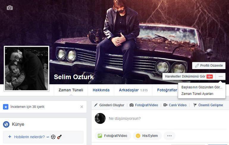 Facebook profilinizi arkadaşlarınız nasıl görüyor