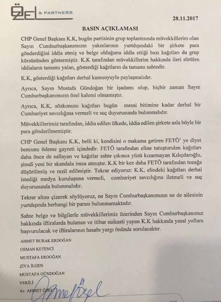 Kılıçdaroğluna yanıt Erdoğanın avukatından geldi