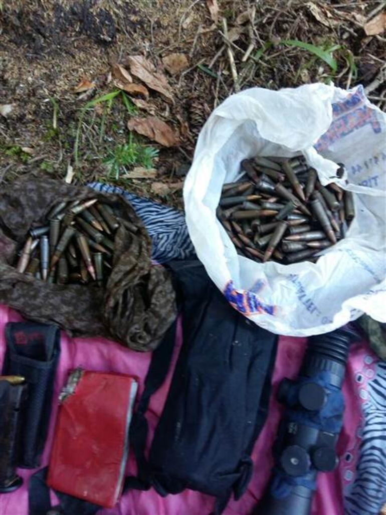 Trabzonda PKK sığınağı bulundu