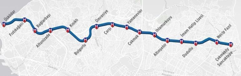 İlk sürücüsüz metro hattı  Üsküdar-Ümraniye bugün açılıyor.