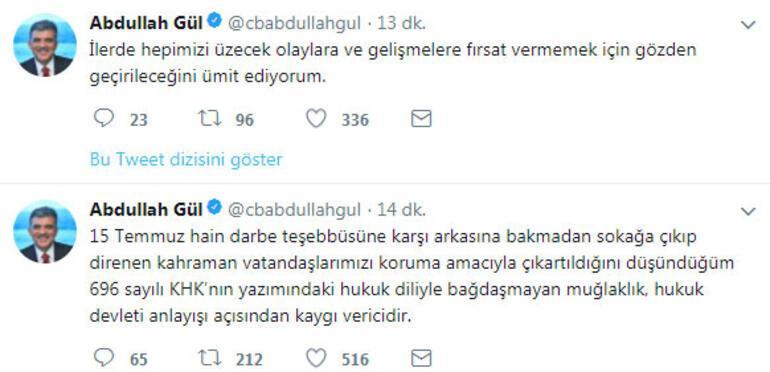 Abdullah Gülden dikkat çekici KHK paylaşımı: Kaygı verici