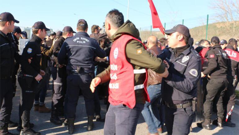 Ankara'ya yürümek isteyen işçilere müdahale: Sendika başkanı da dahil 33 gözaltı