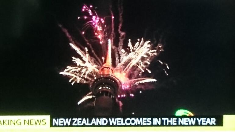 Yeni yıla ilk o ülke girdi