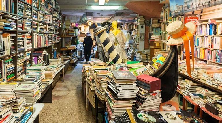 Venedik'teki dünyanın en romantik kitapçısı