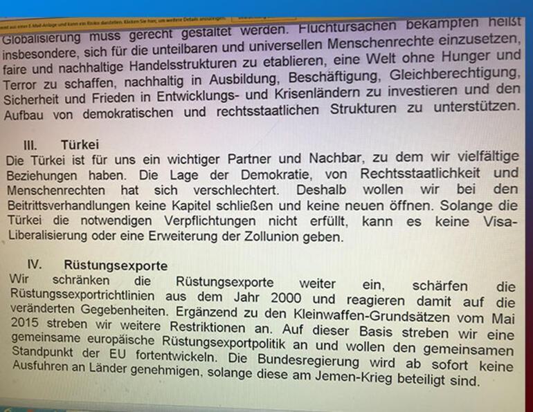 Almanyada koalisyon görüşmesinde kritik Türkiye maddesi