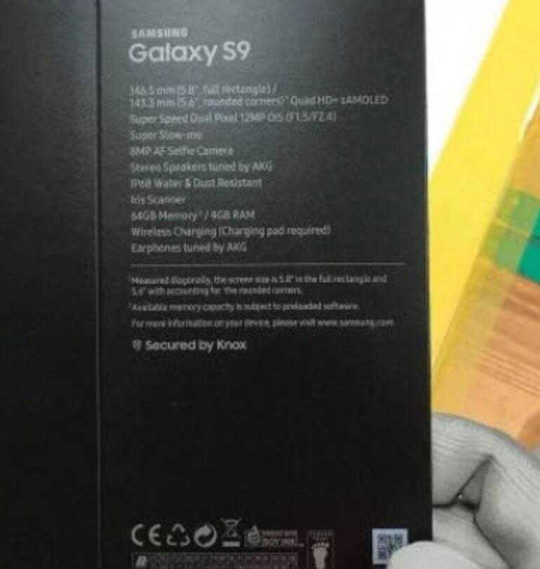 Galaxy S9un kutusu göründü, kendi de yolda