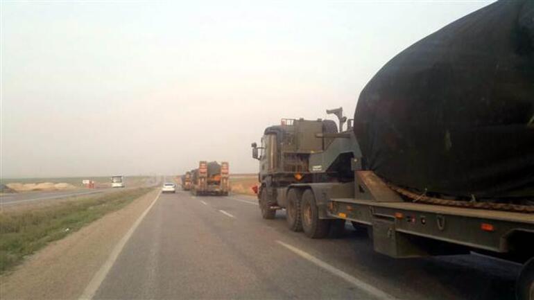 Irak sınırından Suriye sınırına askeri sevkiyat