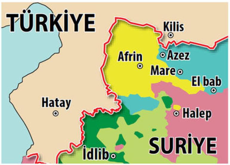 Afrin tam olarak nerede İşte Afrinin haritadaki yeri ve Türkiye için önemi
