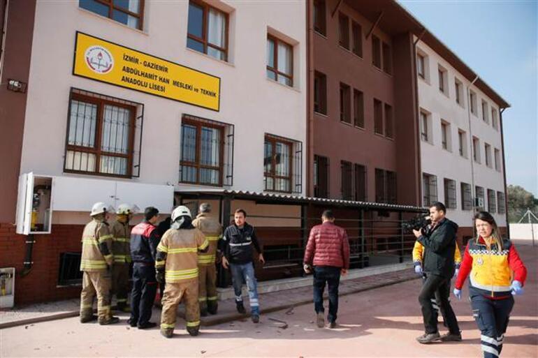 İzmirde okulda doğalgaz patlaması