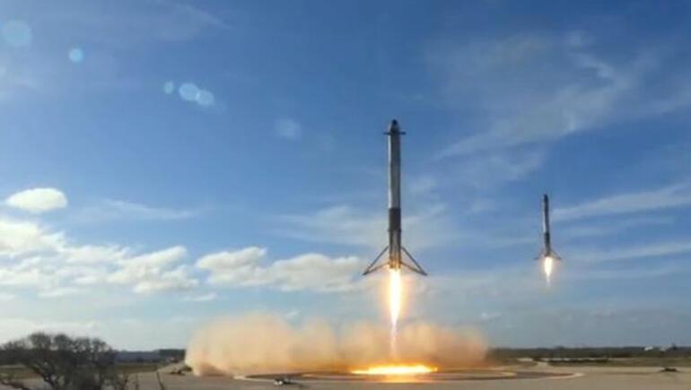 Son dakika: Falcon Heavy fırlatıldı