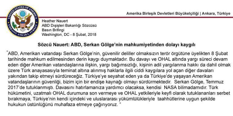 Türk-Amerikan ilişkilerinde yeni kriz: Serkan Gölge