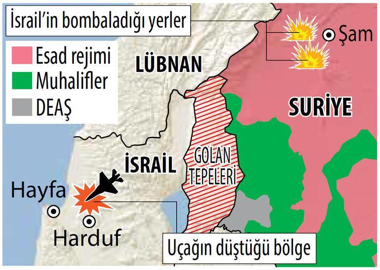 Şam: İsrail savaş uçağını düşürdük... Sınır düellosu